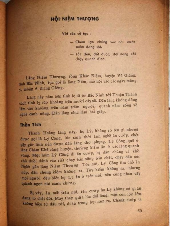 """Nguồn gốc lễ hội chém lợn, theo lời kể của nhà nghiên cứu Toan Ánh (sách """"Hội hè đình đám"""", in năm 1974)"""